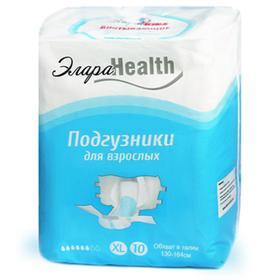 Подгузники для взрослых ЭлараHEALTH - XL, 10шт
