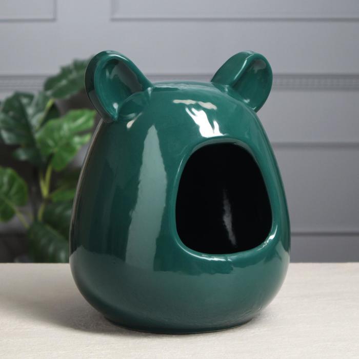 Ванна для шиншилл, зелёная, 26 см
