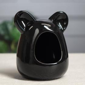 """Кормушка для грызунов """"Ушки"""", чёрная, 10 см"""