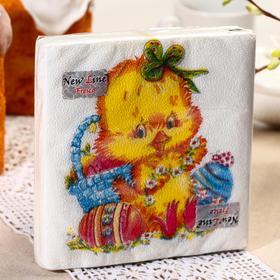 Салфетки бумажные New Line FRESCO «Цыплёнок», 2 слоя, 33*33 см, 20 шт.