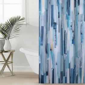 Штора для ванной комнаты «Вертикальные мазки», 145×180 см, оксфорд