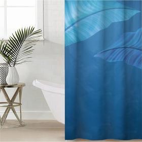 Штора для ванной комнаты Сирень «Умиротворение», 145×180 см, оксфорд