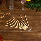 Трубочки для коктейля 10 шт 25х7х0,5 см бамбук