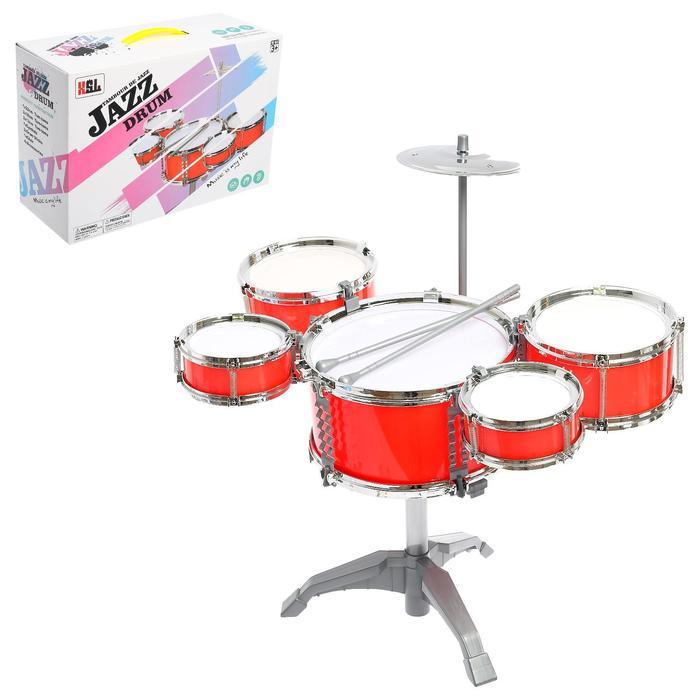 Барабанная установка «Джаз», 5 барабанов, тарелка, палочки