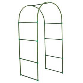 Арка садовая, разборная, 250 × 120 × 90 см, профиль 22 × 22 мм, пластик, зелёная Ош