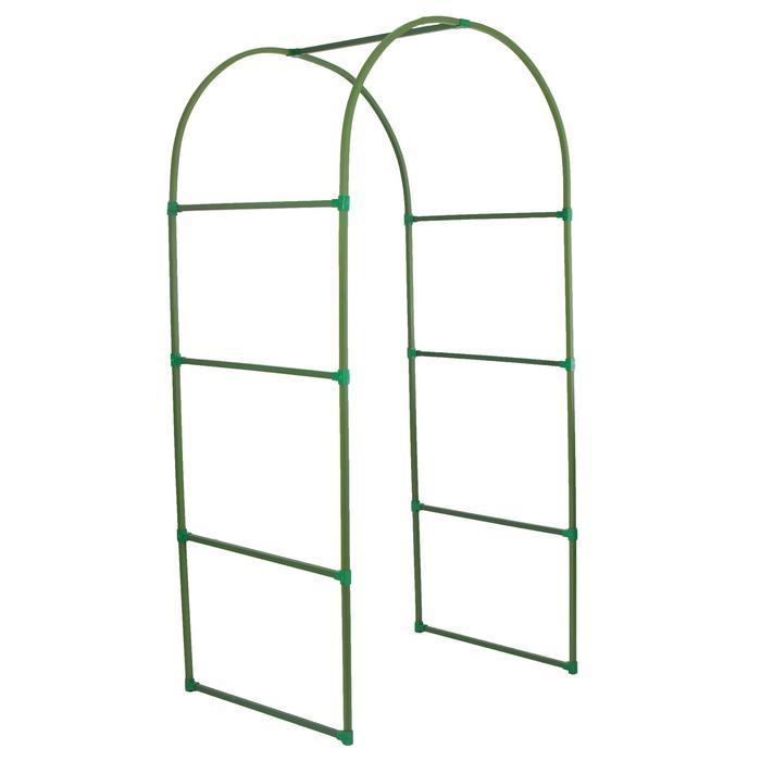 Арка садовая, разборная, 250 × 120 × 90 см, профиль 22 × 22 мм, пластик, зелёная