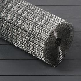 Сетка оцинкованная, сварная 1,2 × 10 м, ячейка 12,5 × 25 мм, d = 1 мм, металл Ош