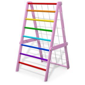 Детский спортивный комплекс Компакт, складной, цвет розовый-радуга