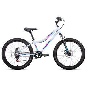 Велосипед 24' Forward Iris 2.0 disc, 2021, цвет белый/розовый, размер 12' Ош