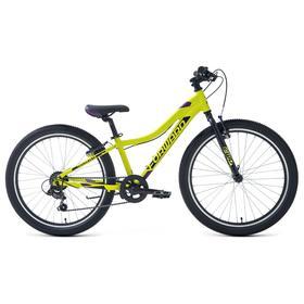 """Велосипед 24"""" Forward Twister 1.2, 2021, цвет зеленый/фиолетовый, размер 12"""""""