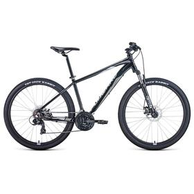 "Велосипед 27,5"" Forward Apache 2.2 disc, 2021, цвет черный/серый, размер 21"""