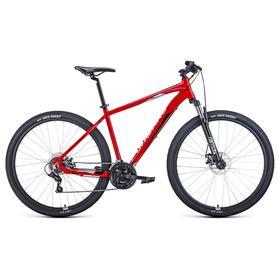 """Велосипед 29"""" Forward Apache 2.2 disc, 2021, цвет красный/серебристый, размер 17"""""""