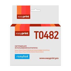 Картридж EasyPrint IE-T0482 (C13T04824010/T0482/ R200/R300/RX500/RX600) Epson, голубой