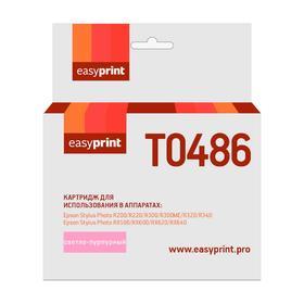 Картридж EasyPrint IE-T0486 (C13T04864010/T0486/R200/300/RX500/600) Epson, светло-пурпурный   586679 Ош