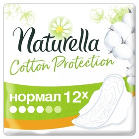 Женские гигиенические прокладки Naturella Cotton Protection Normal Single 12 шт
