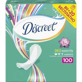 DISCREET Женские гигиенические прокладки на каждый день Deo Water Lily Multiform 80 шт +20 ш