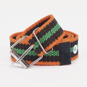 Ремень женский, ширина 2,5 см, пряжка металл, цвет оранжевый/зелёный/чёрный Ош