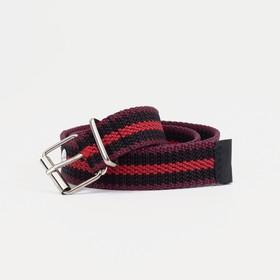 Ремень женский, ширина 2,5 см, пряжка металл, цвет бордовый/чёрный Ош