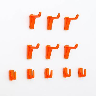 Набор крючков Blocker Expert, 11 шт: 5 малых, 6 больших, цвет оранжевый - Фото 1