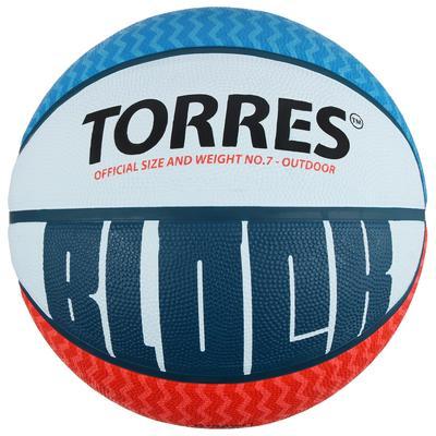 Мяч баскетбольный Torres Block, B00077, размер 7