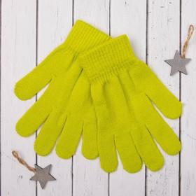 Перчатки молодёжные 'Однотонные', размер 19 (р-р произв. 9,5), цвет зелёный Ош