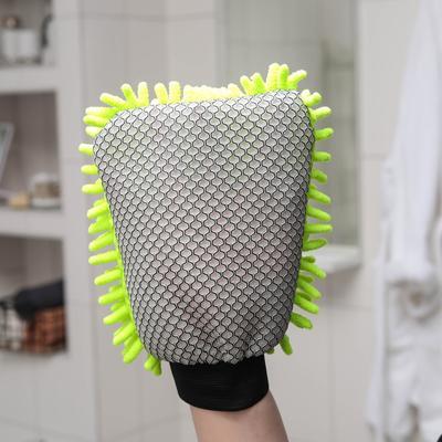 Варежка для уборки для сложных загрязнений Raccoon, 22×15 см, микрофибра букли двухсторонняя - Фото 1