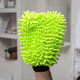 Варежка для уборки для сложных загрязнений Raccoon, 22×15 см, микрофибра букли двухсторонняя