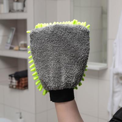 Варежка для деликатной уборки Raccoon, 22×15 см, 47 гр, микрофибра букли двухсторонняя - Фото 1