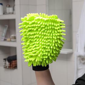 Варежка для деликатной уборки Raccoon, 22×15 см, 47 гр, микрофибра букли двухсторонняя