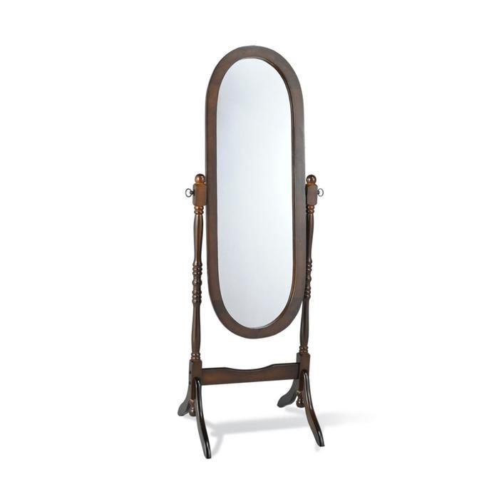 Зеркало , 525x510x1500 темный орех