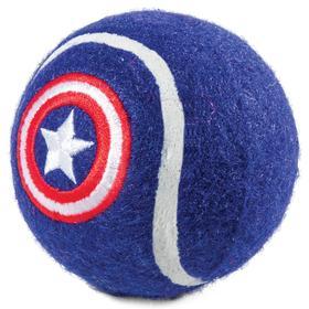 """Игрушка для собак Triol Marvel """"Капитан Америка. Мяч теннисный"""", 7 см"""