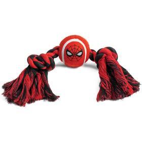 """Игрушка для собак Triol Marvel """"Человек-паук. Верёвка и мяч"""", 7х 31 см"""