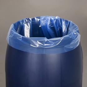 Мешок, вкладыш в бочку, 200 литров, 90 × 150 см, 100 мкм, обработка от цветения воды Ош