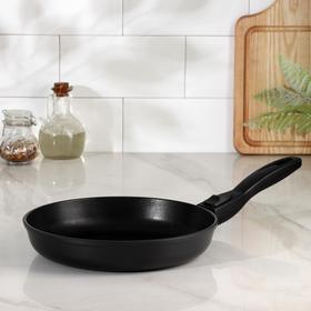 Сковорода НМП «Готовить легко», d=24 см, съёмная ручка, black