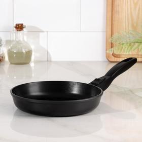 Сковорода НМП «Готовить легко», d=22 см, съёмная ручка, black