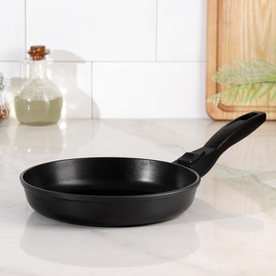 Сковорода НМП «Готовить легко», d=22 см, съёмная ручка, black - Фото 1