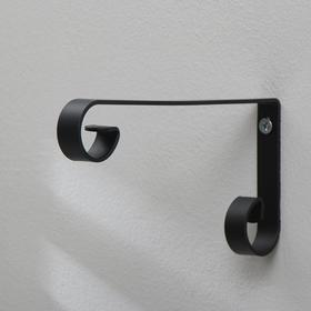 Кронштейн для кашпо, кованый, 22 см, металл, чёрный Ош