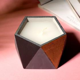 Свеча в подсвечнике «Серый, чёрный и золотой», 8,5 х 5,5 см
