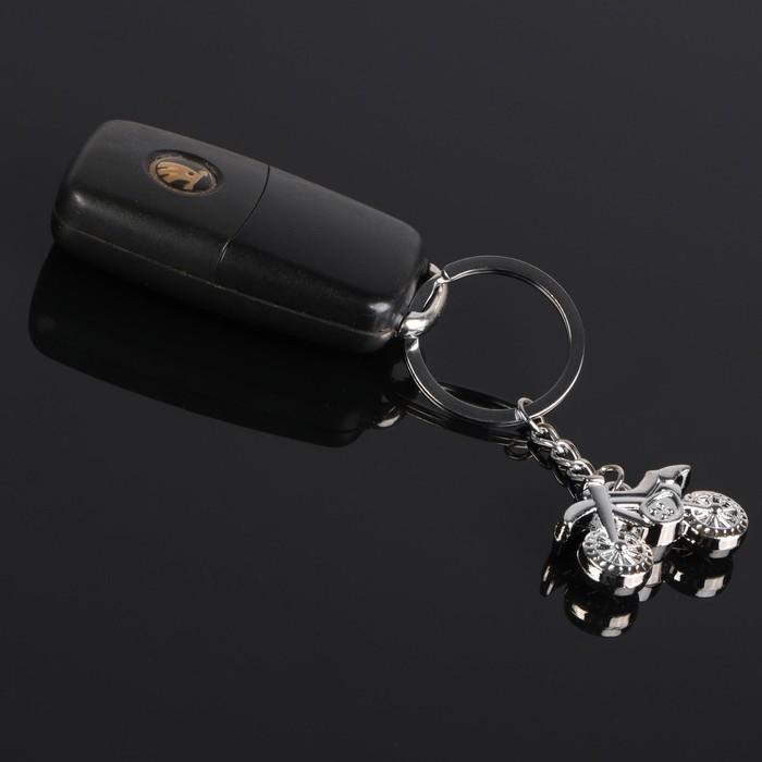 """Брелок для ключей Cartage, """"Кроссовый байк"""", серебро"""