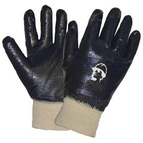 Перчатки х/б с полным нитриловым покрытием, манжет резинка, размер XL (10) Ош