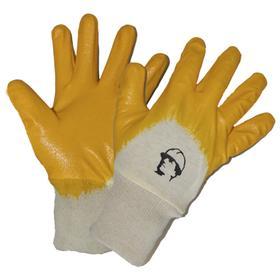Перчатки х/б с легким нитриловым покрытием, манжет резинка Ош