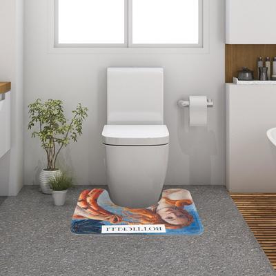 """Коврик для ванной Этель """"Ботичелли"""",50х40 см, велюр - Фото 1"""