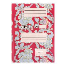 Скоросшиватель А4, мелованный картон 320 г/м2, розовый с голубыми цветами