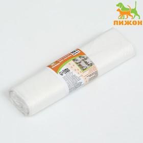 Пакеты для кошачьих лотков Пижон, 45х30х30см, ПНД, 15мкм, белые, 10шт Ош
