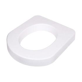 Сиденье для уличного туалета, 44 × 38 × 6 см, пенопласт, белое Ош