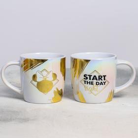 """Кружка детская """"Start the day"""", Минни Маус,  гальваника 300 мл"""
