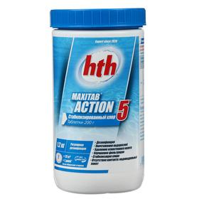 Многофункц. табл.стабилиз. хлора 5 в 1 hth MAXITAB ACTION, 1,2 кг