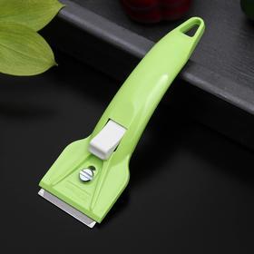 """Скребок PRO для чистки стеклокерамики """"Filtero"""", Зеленый"""