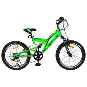 "Велосипед 20"" Stels Mustang V, V010, цвет зеленый, размер 13"""