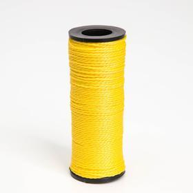 Нить 50 м, d=1 мм, цвет жёлтый Ош